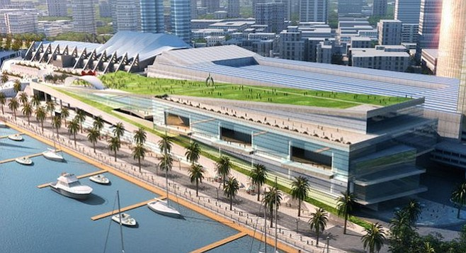 Proposed Convention Center expansion/tsunami diversion barrier
