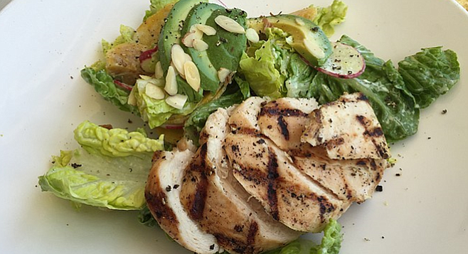 Little Gem Lettuce salad with grilled chicken