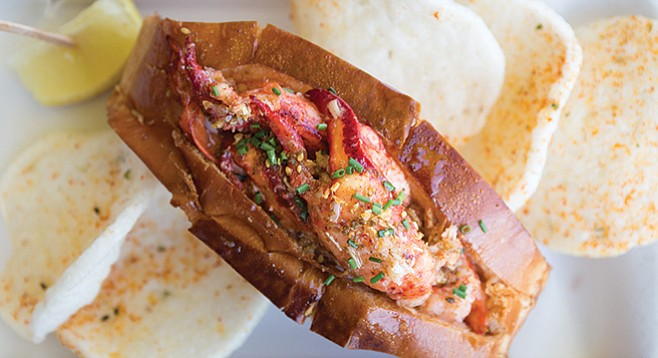 Lobster roll at Supernatural Sandwiches