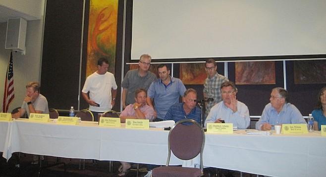 Navajo Planners look over Grantville Greens documents