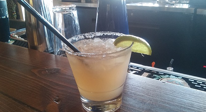 Hand-made margaritas with fresh-squeezed lime, agave nectar, and Torado tequila