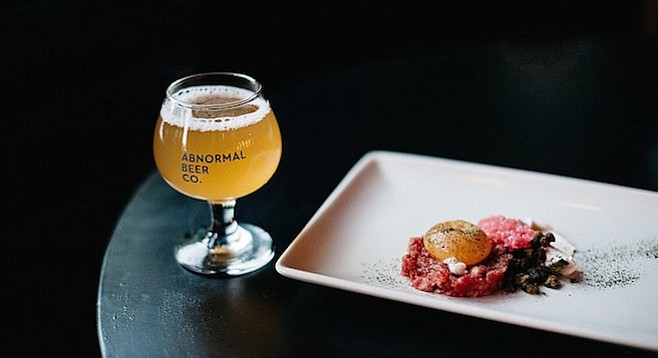 A beer pairing hosted by the Cork and Craft/Abnormal Beer Company