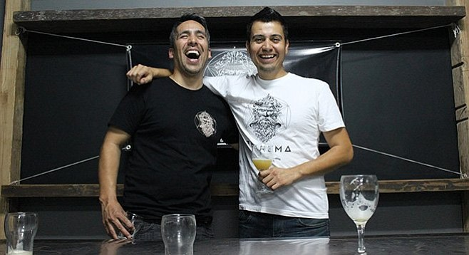 Teorema Cervecería brewers Luis Durazo and Edgar Martinez