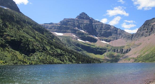 Upper Two Medicine Lake in Glacier National Park's lesser-visited Two Medicine region.
