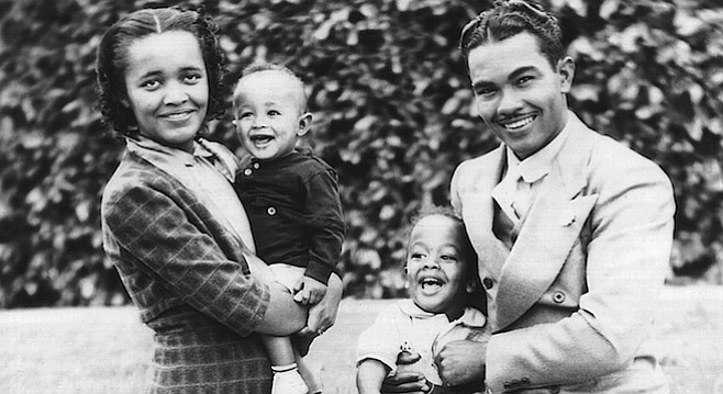 Peggy and York Mitchell, with sons York Jr. and Duke, c. 1940