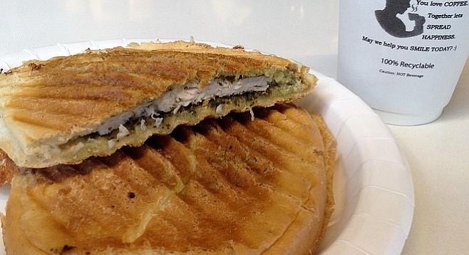 Turkey and cheddar panini