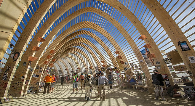 The Temple at this year's Burning Man.