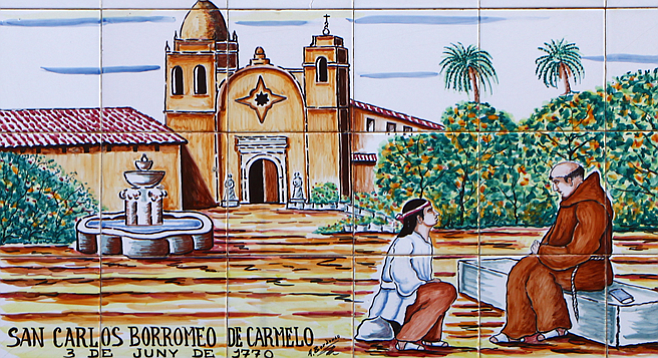 The founding of the Mission San Carlos Borroméo, California, by Junípero Serra