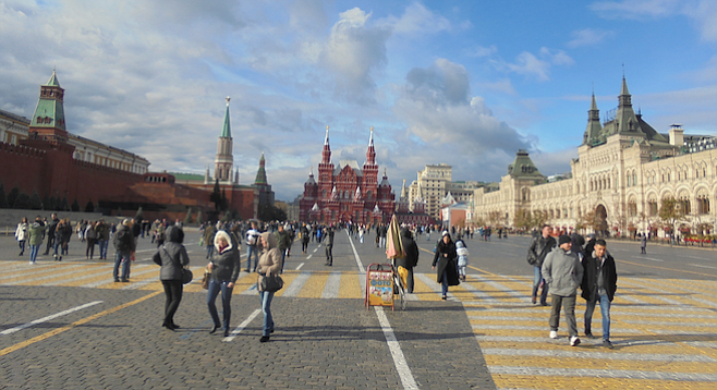 Taking in the vast, historic expanse that is Moscow's Red Square.