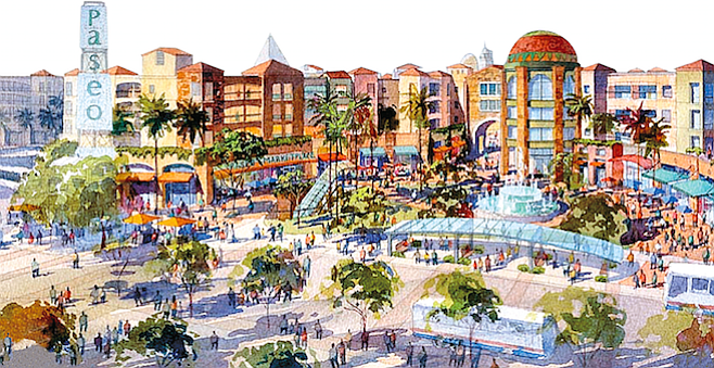 Architect's rendering of The Paseo. Neither Weber nor his bosses at CSU went public about their ongoing dispute, even though the foundation had spent millions of dollars.