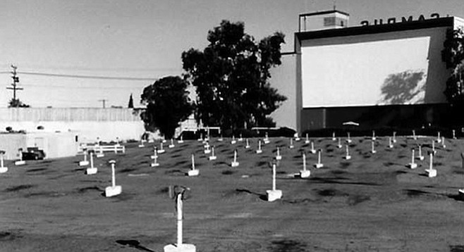 Campus Drive-In at El Cajon Blvd. and College Avenue was one of the largest drive-in theaters on the West Coast.
