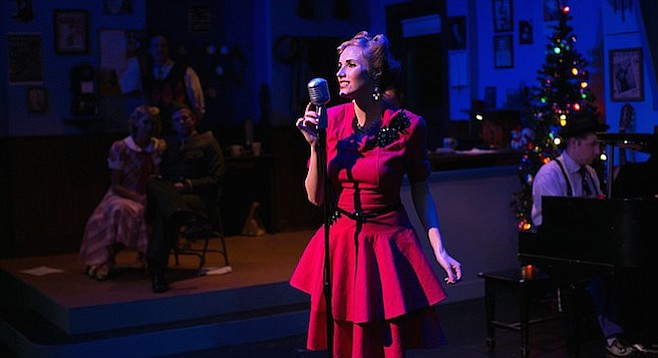 """Kelly DeRouin, as Ann Collier, sings """"Have Yourself a Merry Little Christmas"""""""