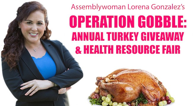 """Families receiving turkeys have been pre-selected,"" noted Gonzalez's website"