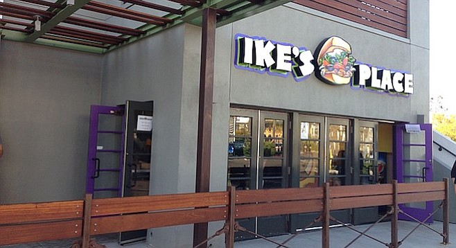 Ike's Place Hillcrest won't upset the Neighborhood.