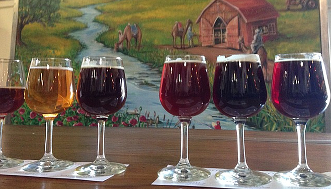 Duck Duck Gooze, second from the left, in the Vintage Flight at Lost Abbey.