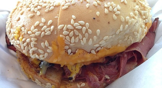 Eggy, cheesy, pastrami — and the bagel's the best part.