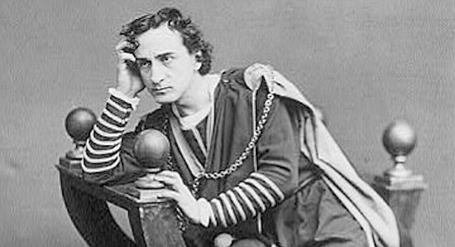Edwin Booth as Hamlet.
