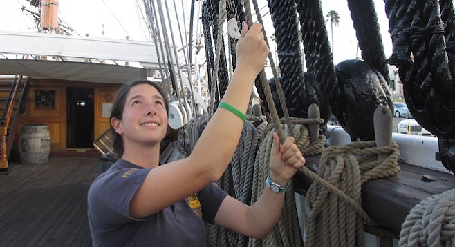 Katherine started as a deckhand in San Diego before making a career of it