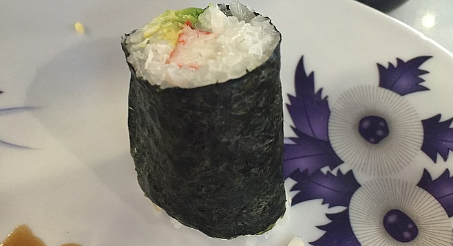 An odd execution of the traditional California Roll