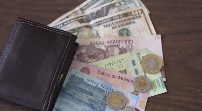 Border-crossers and Tijuanese usually carry both currencies in their wallet.