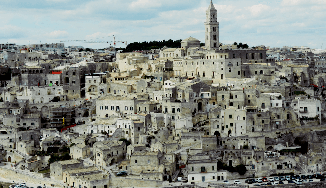 The town of Matera, a UNESCO World Heritage Site.