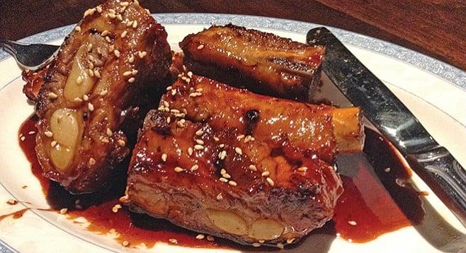Lucky Liu's pork spare ribs