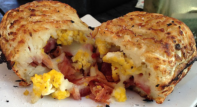 This one has bacon, egg, and cheese.