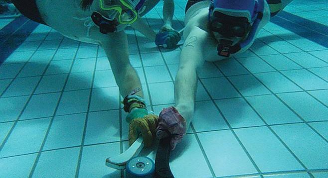 "Underwater hockey, originally named ""octopush"""