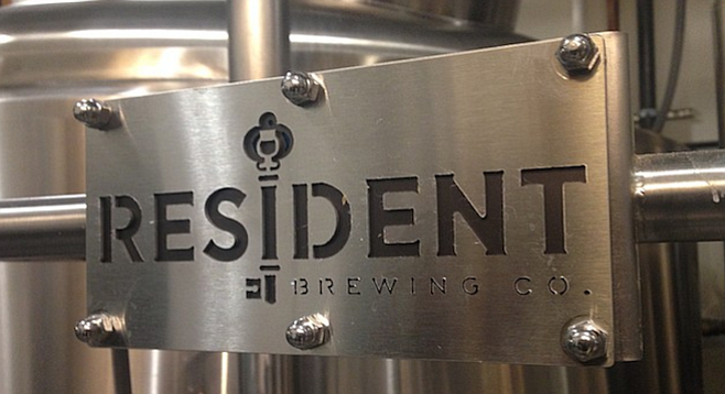 Resident Brewing Co's shiny new brew system is visible to passers by on C Street.