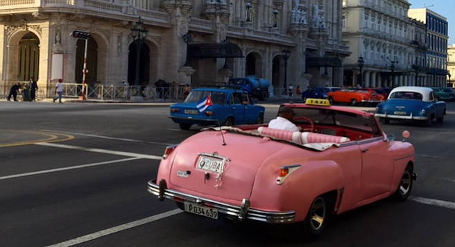 Classic American cars from the '40s and '50s are Havana's de facto mode of transportation.