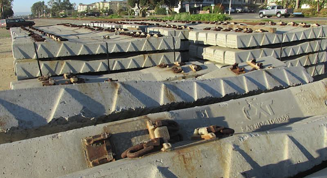 North County Transit District recently acquired these railroad ties — but for what purpose?