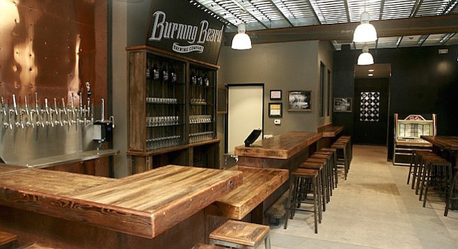 The rocker- and family-friendly tasting room of El Cajon's Burning Beard Brewing Company