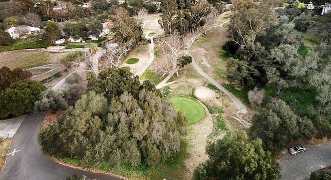 """The greens are better than any of the greens in the valley."" Fallbrook Golf Course on February 8"