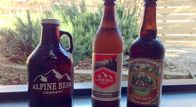 McIlhenney's Irish Red and Hop Boxed — two worthy growler pour options in Alpine.