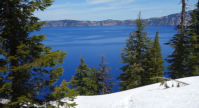 Oregon's only national park, site of the deep blue Crater Lake.