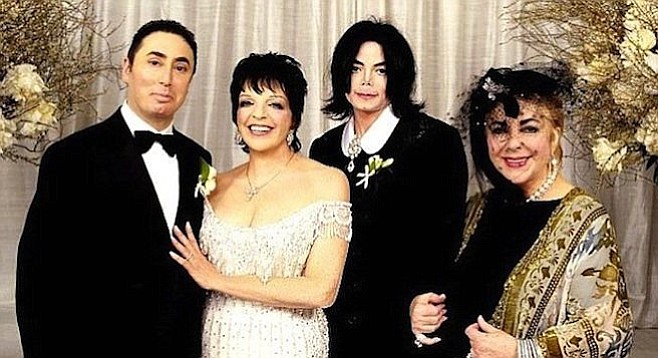 Married life was no cabaret for David Gest and Liza Minnelli, seen here with best man Michael Jackson and matron of honor Elizabeth Taylor