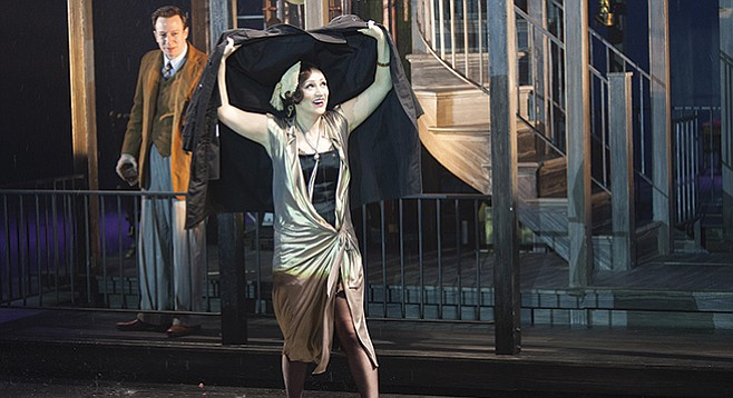 """Most of what happens off stage in Maugham's """"Rain,"""" happens onstage in the musical."""