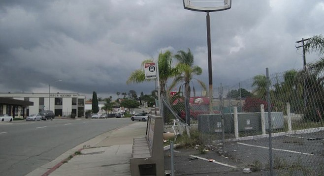 Over a year later,  7353 El Cajon Boulevard is still pretty ugly...but maybe not for much longer