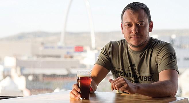 Carlos Macklis on the fifth floor of Norte Brew