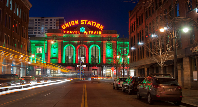 Besides trains (and buses), Downtown Denver's historic Union Station houses four restaurants and a 112-room hotel.