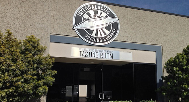 Intergalactic's new tasting room is across the parking lot from it's original location and has triple the space.