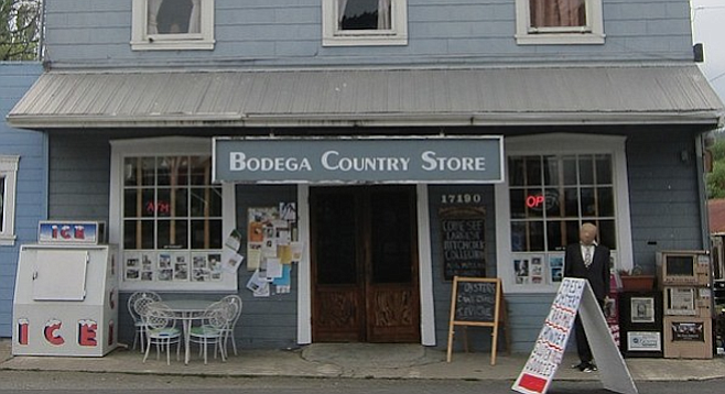 The town's quirky Bodega Country Store (/delicatessen/movie museum) is an hour and a half north of S.F.