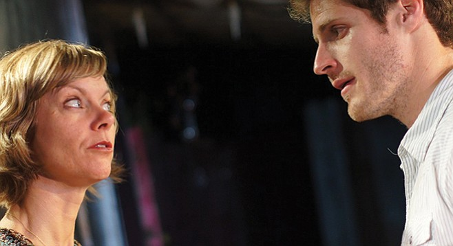 Ethan (Connor Sullivan) and his principal antagonist/mom/it's complicated, Annie (Lisel Gorrel-Getz).