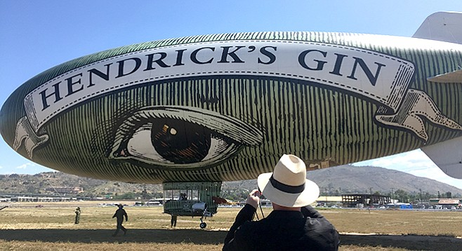 Eye in the sky: the Hendrick's Gin blimp