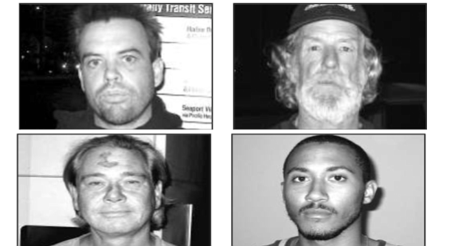"""Top: Michael Collins and Marcus. Bottom: Robert Swayze Dalton and Kent Kline. """"They'll keep him in protective custody, no doubt, but look at what happened to Jeffrey Dahmer."""""""
