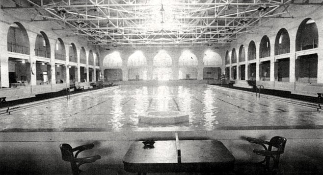 Inside the Plunge is a pool as lithe and graceful as it always was.