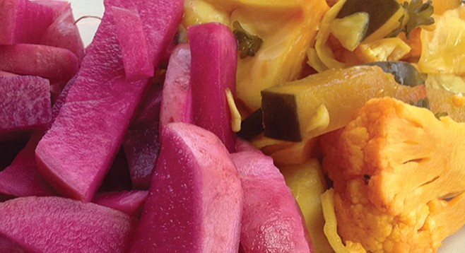 Free pickled veggies at El Cajon's Bab Al-Hara