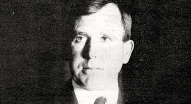 Joe Brennan, c. 1920. He conned the Navy into doing the dredging, and they had to have some place to dump the spoil, so they started filling in that area where the airport is and created a solid land mass. The Marine base and the Navy base is all fill too.