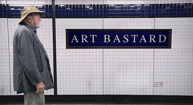 All aboard the Art Bastard express.