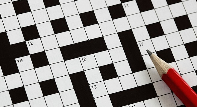 """""""A glance at the Across words on the top of any answer to any crossword puzzle will reveal that at least one-third of the letters are vowels."""""""